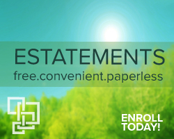Image of trees with message